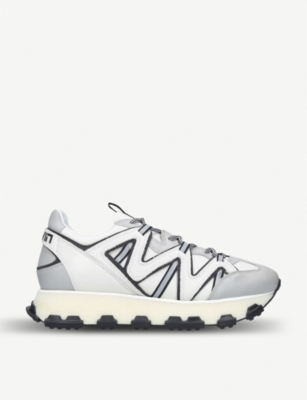 LANVIN Lightening leather trainers