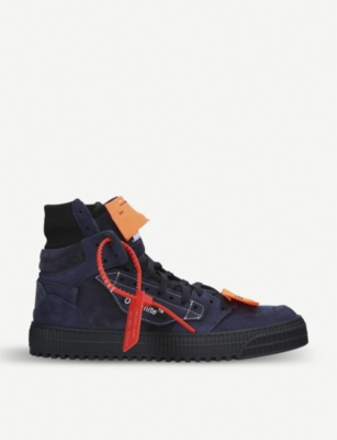 OFF-WHITE C/O VIRGIL ABLOH Off-court suede high-top trainers
