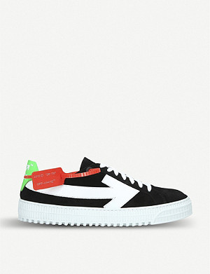 OFF-WHITE C/O VIRGIL ABLOH Mens Arrow suede trainers