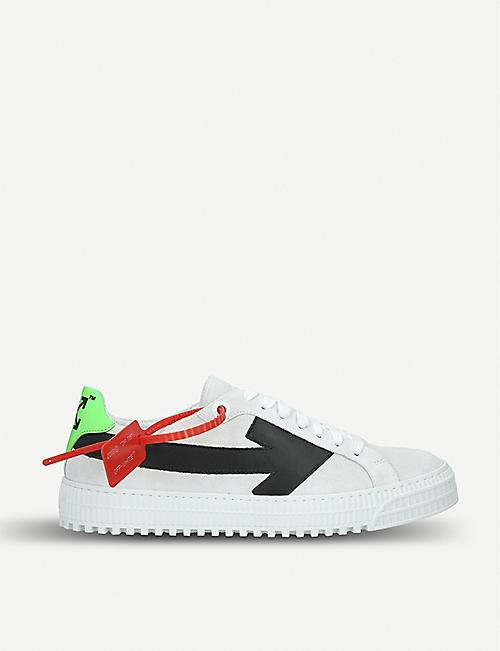 214a568782ed OFF-WHITE C O VIRGIL ABLOH Arrow leather trainers