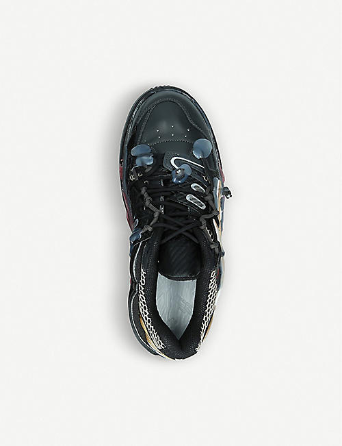 MAISON MARGIELA Fusion leather and mesh low-top trainers