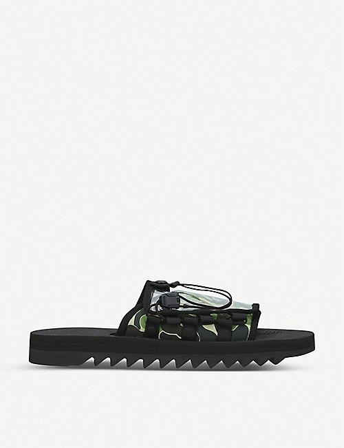 7558739ef1162 A BATHING APE BAPE x Suicoke Dao camouflage-print rubber and PVC sandals