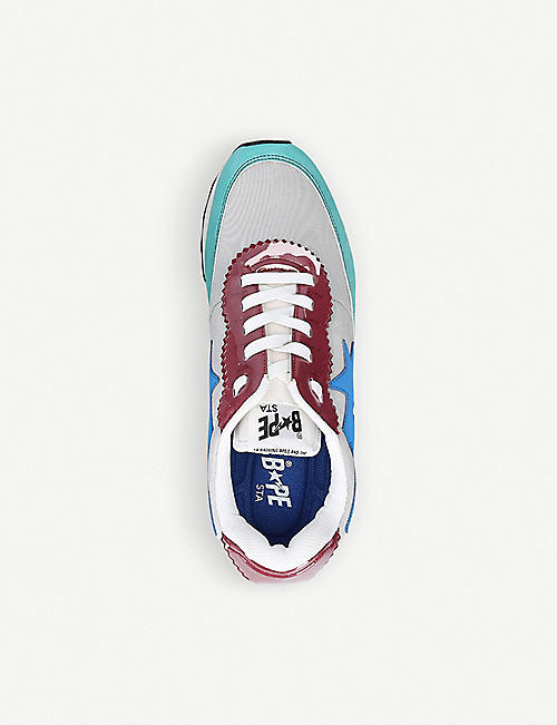 A BATHING APE Roadsta Express colour-blocked leather trainers