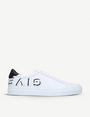 GIVENCHY Logo-strap leather trainers
