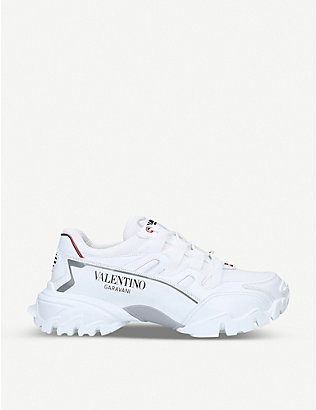 VALENTINO GARAVANI: Climbers leather trainers