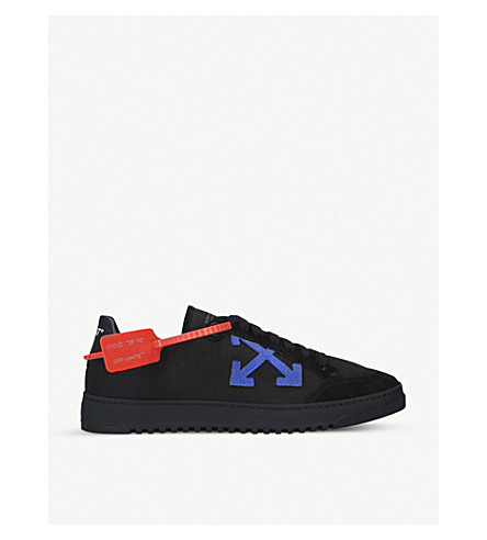 Off-White Canvases 2.0 LOW SUEDE AND CANVAS TRAINERS