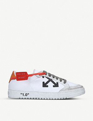 OFF-WHITE C/O VIRGIL ABLOH 2.0 低仿旧皮革运动鞋
