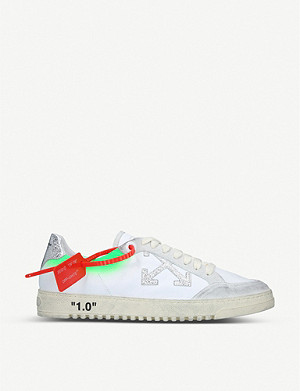 OFF-WHITE C/O VIRGIL ABLOH 1.0 low-top leather trainers