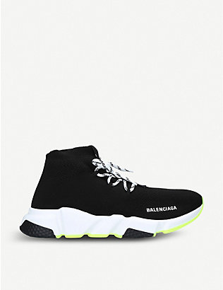 BALENCIAGA: Speed lace-up stretch-knit trainers