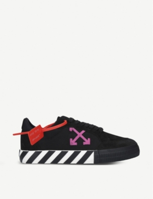 Vulc Striped Low Top Canvas Trainers by Off White C/O Virgil Abloh