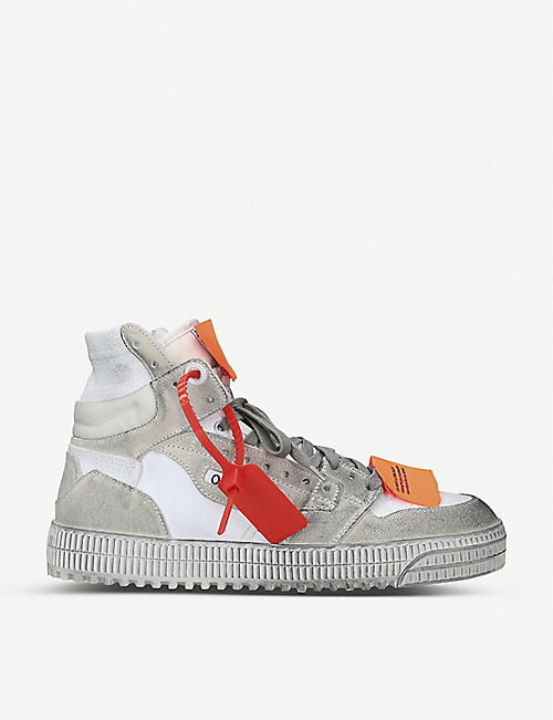 5d06cd0cc OFF-WHITE C/O VIRGIL ABLOH Off-court leather high top trainers