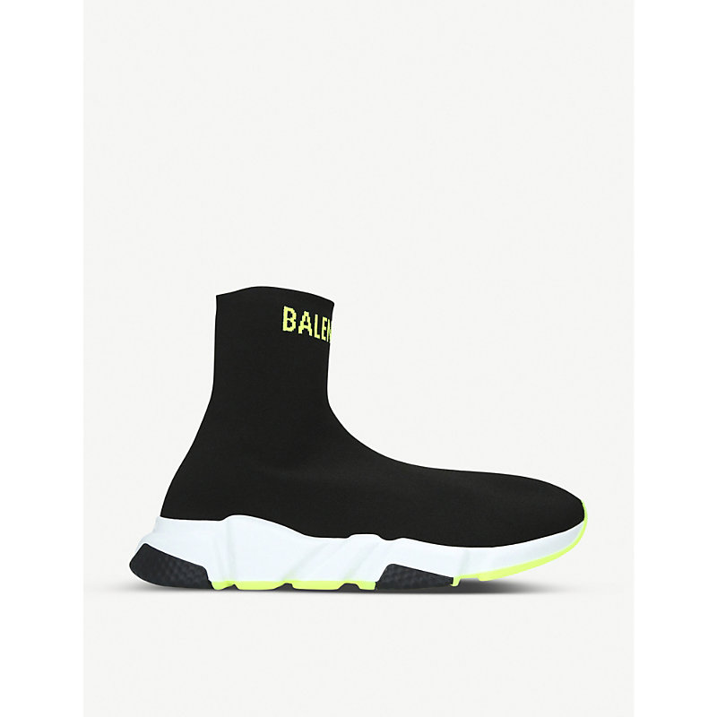 Balenciaga Shoes SPEED KNITTED HIGH-TOP TRAINERS