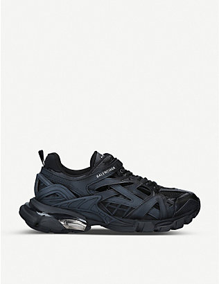 BALENCIAGA: Track 2.0 leather and mesh trainers