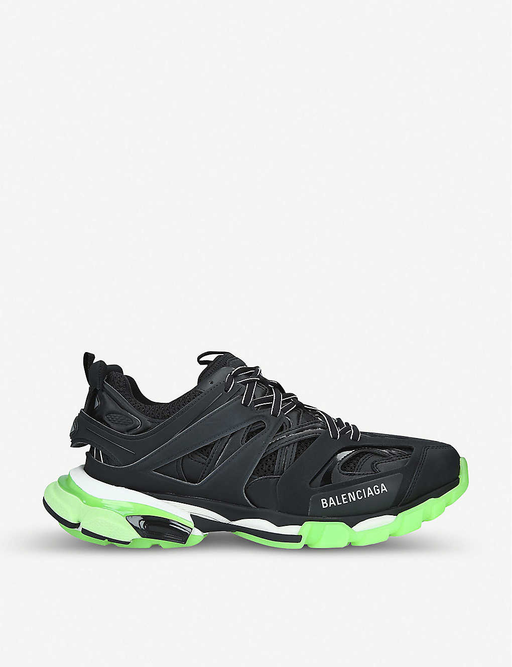BALENCIAGA: Track nylon and mesh glow-in-the-dark trainers