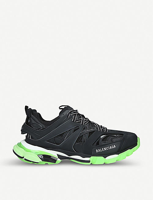 BALENCIAGA Track nylon and mesh glow-in-the-dark trainers