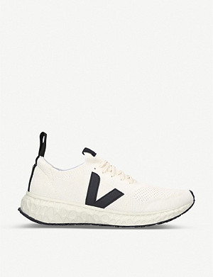 RICK OWENS V-knit woven low-top trainers