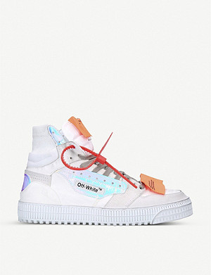 OFF-WHITE C/O VIRGIL ABLOH Off-Court suede and leather high-top trainers