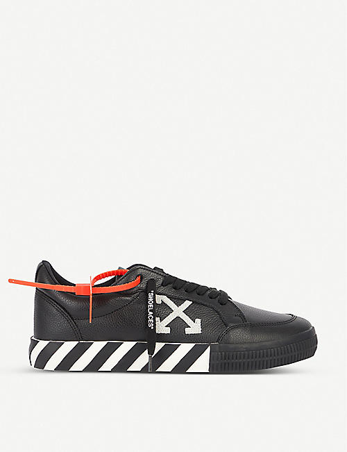 OFF-WHITE C/O VIRGIL ABLOH Vulc striped low-top canvas trainers