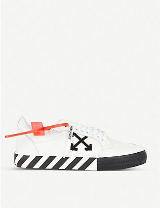 OFF-WHITE C/O VIRGIL ABLOH: Vulc striped low-top canvas trainers
