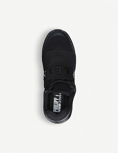 PHILIPP PLEIN Active Runner neoprene and leather trainers