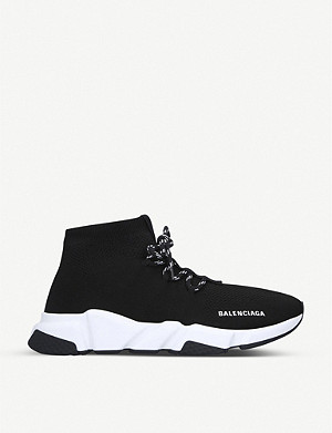 BALENCIAGA Speed lace-up stretch-knit trainers