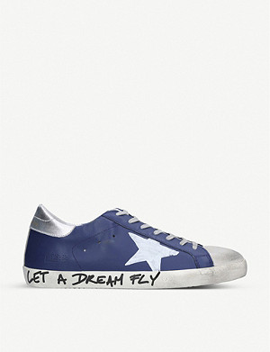 GOLDEN GOOSE Superstar graffiti-print leather trainers