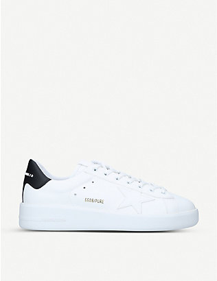 GOLDEN GOOSE: Pure low-top leather and suede trainers