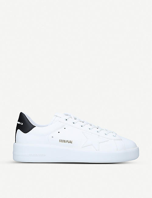 GOLDEN GOOSE Pure low-top leather and suede trainers