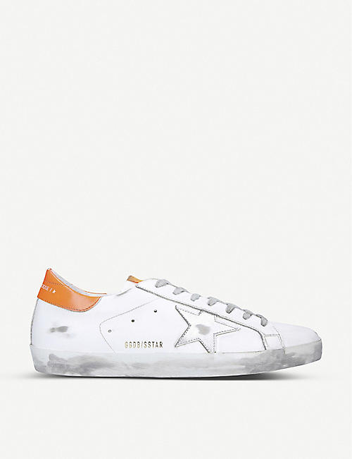 GOLDEN GOOSE Superstar distressed leather trainers