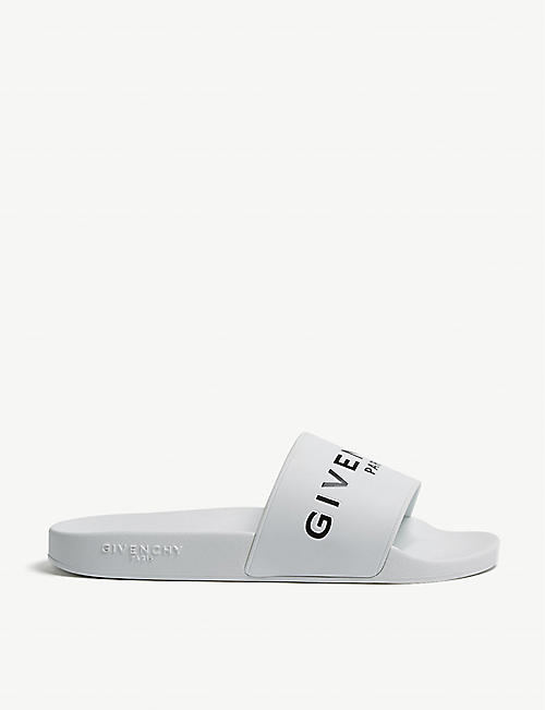 GIVENCHY Logo-embossed rubber sliders