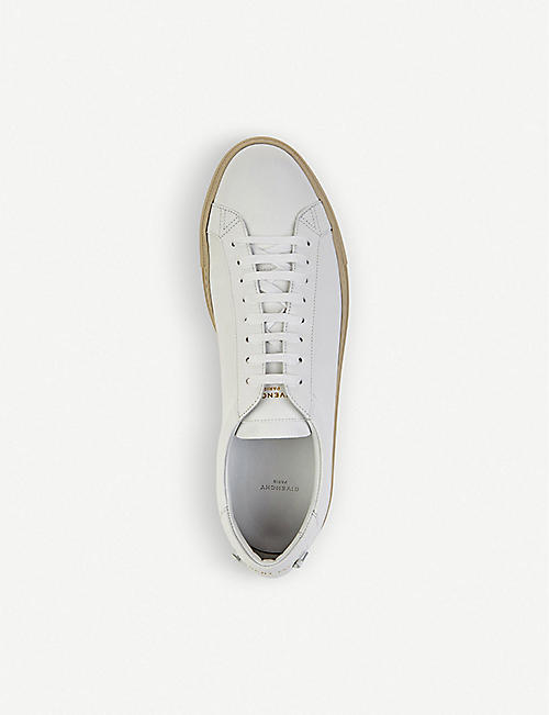 GIVENCHY Knot leather lace-up trainers