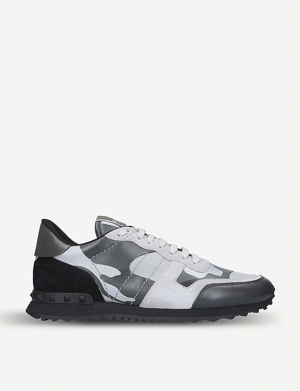 803481ac77e95 VALENTINO - Rockrunner suede and leather trainers | Selfridges.com