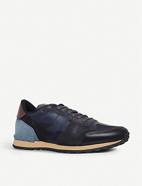 9f0371d1d1e60 VALENTINO Camouflage leather and suede trainers