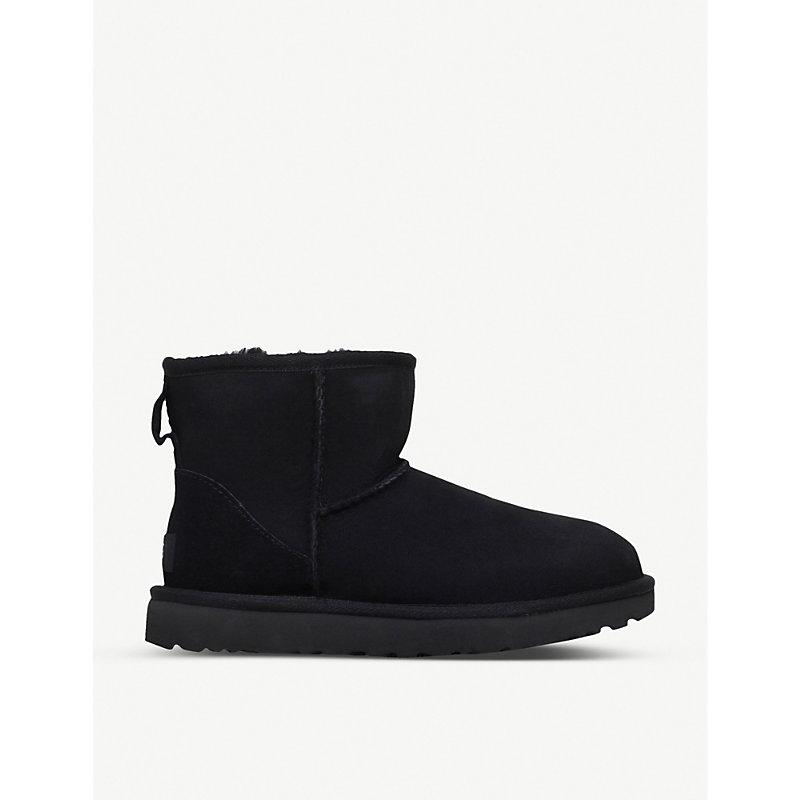 b6806398b8d Ugg Ladies Black Timeless Classic Ll Mini Sheepskin Boots, Size: EUR ...