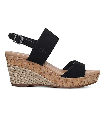 1fe19e73bba ... UGG Elena nubuck wedge heels (Black. PreviousNext
