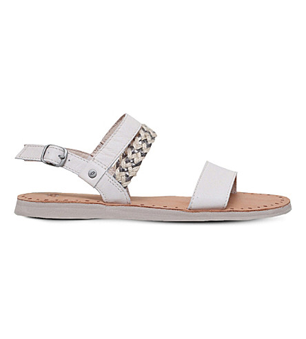 Ugg Elin Leather And Jute Sandals Selfridges Com