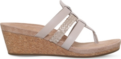 7a455fb0fd UGG - Maddie strappy leather wedge sandals | Selfridges.com