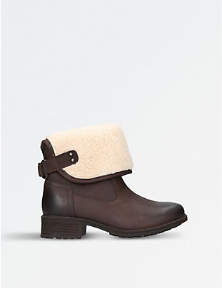 UGG: Aldon wool-cuff leather boots