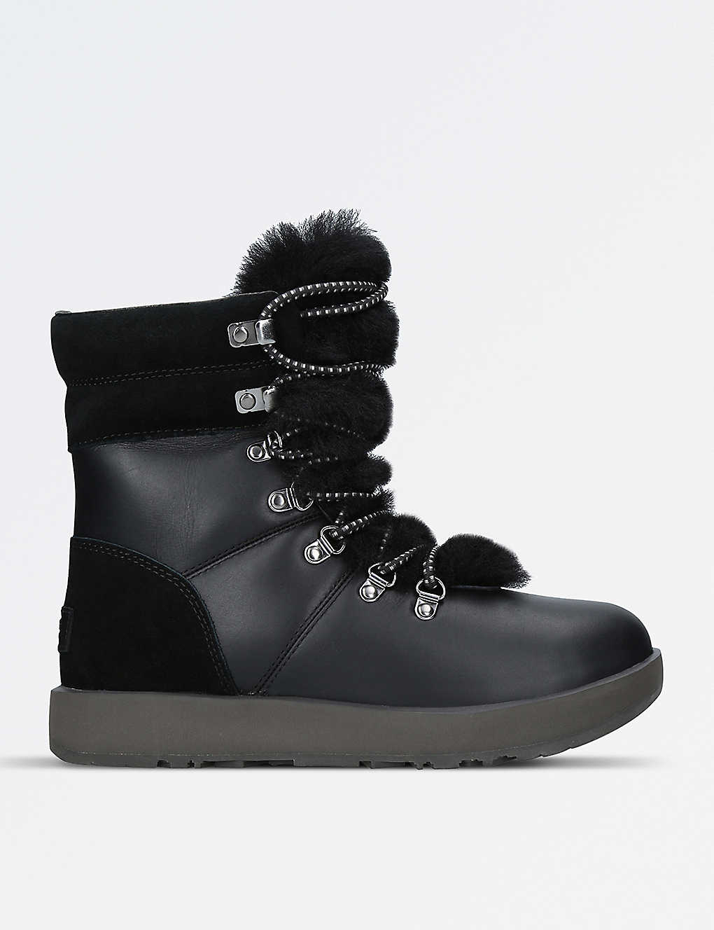 e07df720a26 UGG - Viki waterproof leather, suede and sheepskin boots ...