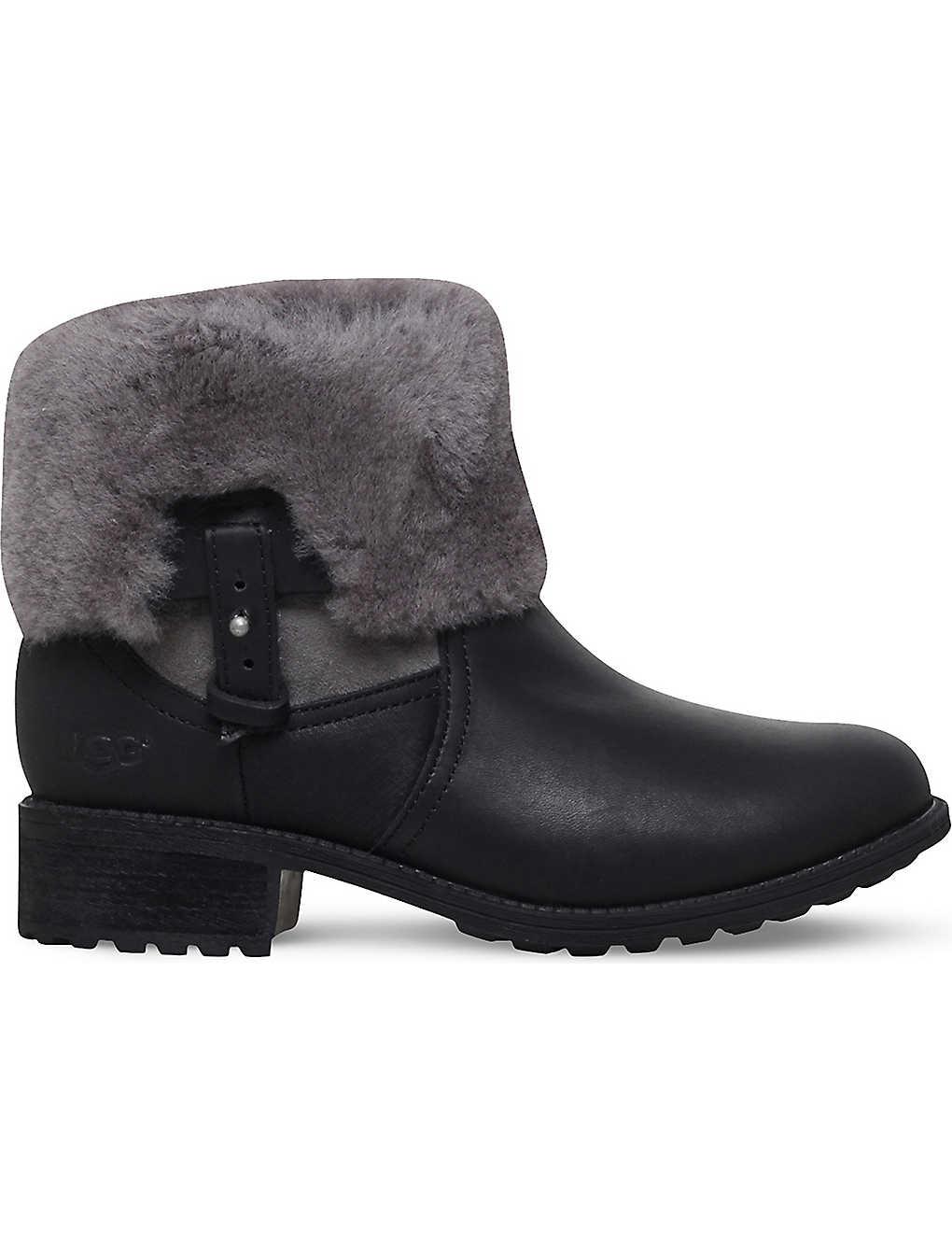e3244c62fcd UGG - Chyler leather and sheepkin boots | Selfridges.com