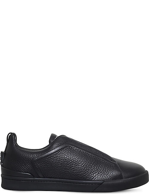 ERMENEGILDO ZEGNA Triple-stitch leather trainers