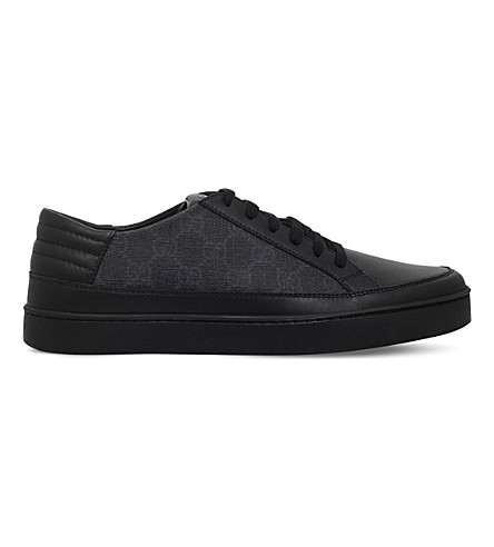 ba5c0bd914cf GUCCI Common GG low-top sneakers (Blk grey