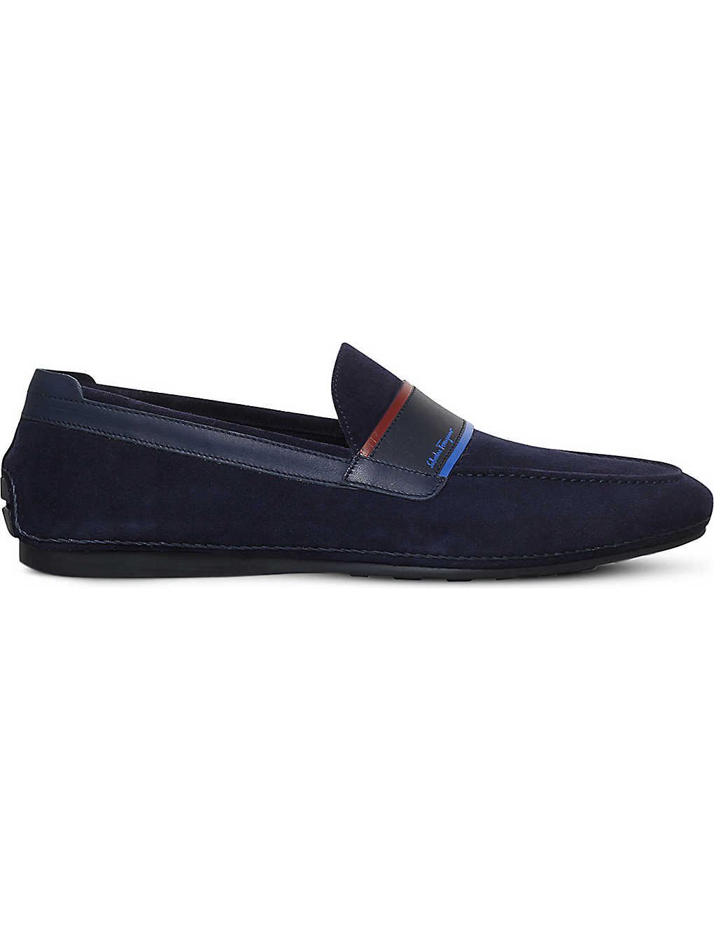 616ef0edc4b5f SALVATORE FERRAGAMO - Florida suede driving shoes | Selfridges.com