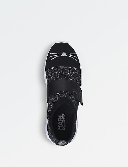 THOM BROWNE Cat face-motif woven trainers