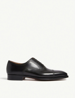 MAGNANNI Domino punch leather oxford shoes
