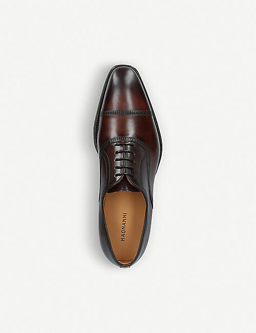 MAGNANNI Domino leather oxford shoes