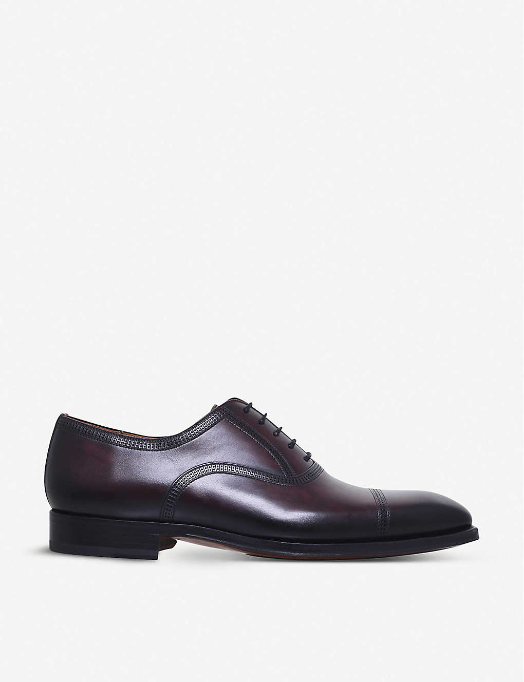 MAGNANNI: Domino leather Oxford shoes