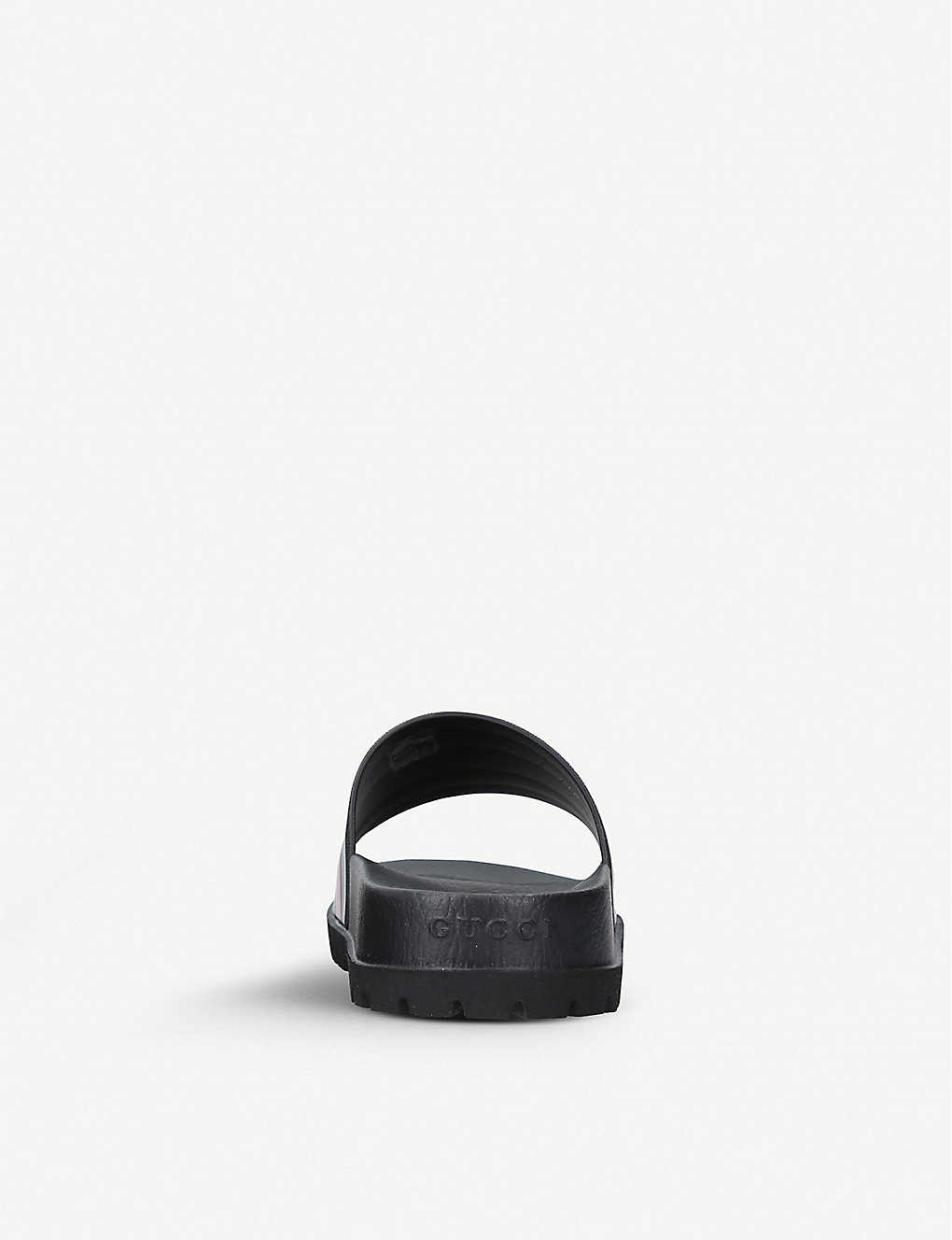 ef323fe81656 ... Pursuit striped rubber sliders - Black zoom