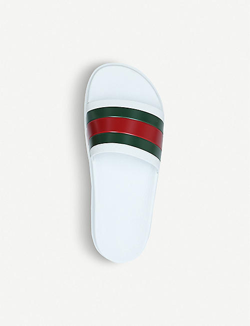 GUCCI Pursuit trek rubber slider sandals