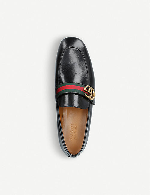 GUCCI Donnie GG leather loafers